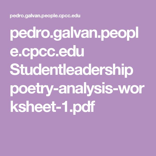 Pedrolvanoplecpcc Studentleadership Poetry Analysis