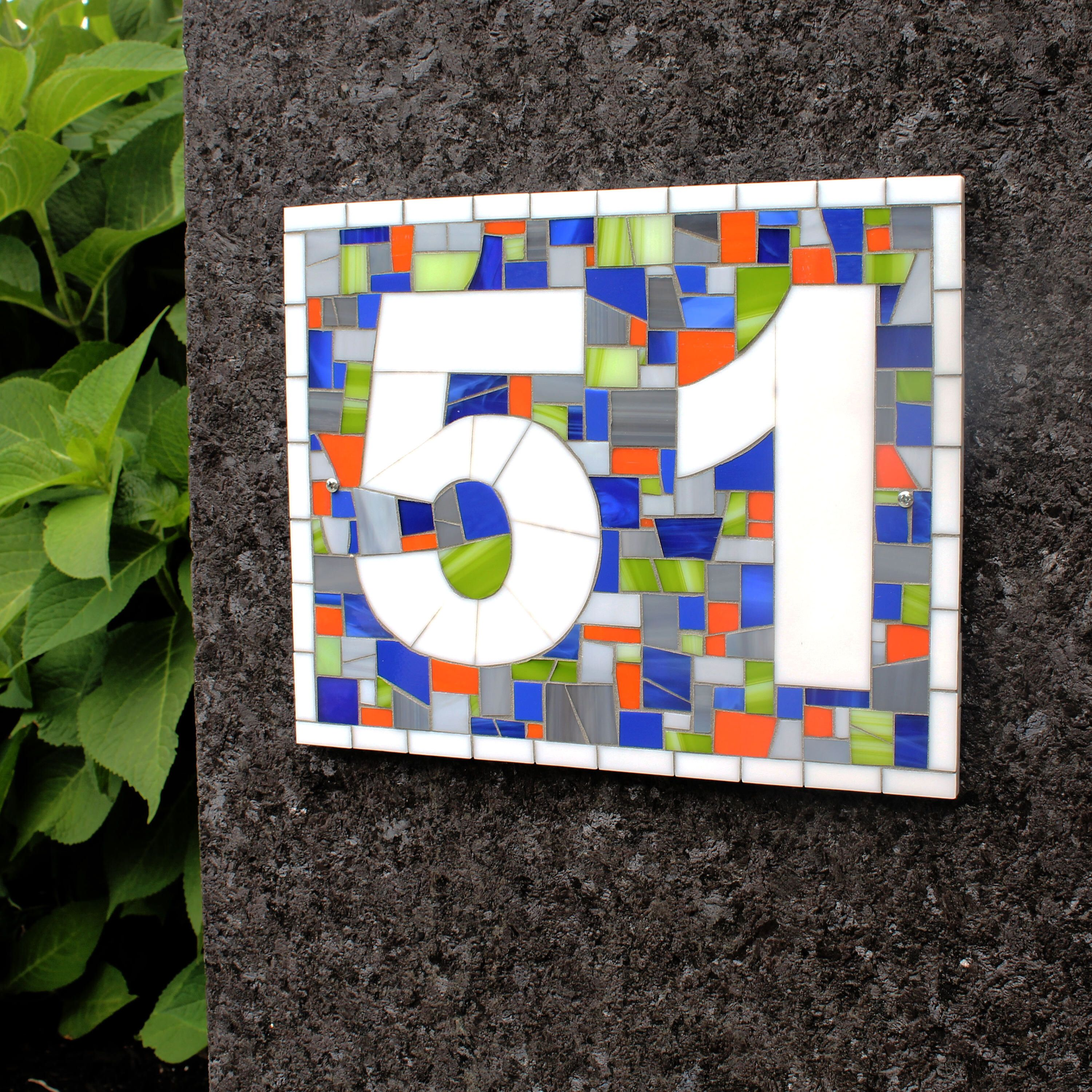 Mosaic house number plaque for blue house by liveinmosaics on etsy mosaic house number plaque for blue house by liveinmosaics on etsy httpswww dailygadgetfo Image collections