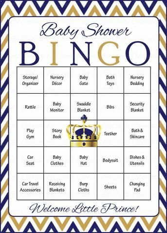 Elephant Baby Shower Baby Bingo Cards Printable Download Baby Shower Game For Boy Blue Gray B3004 Baby Shower Bingo Prince Baby Shower Theme Royal Prince Baby Shower