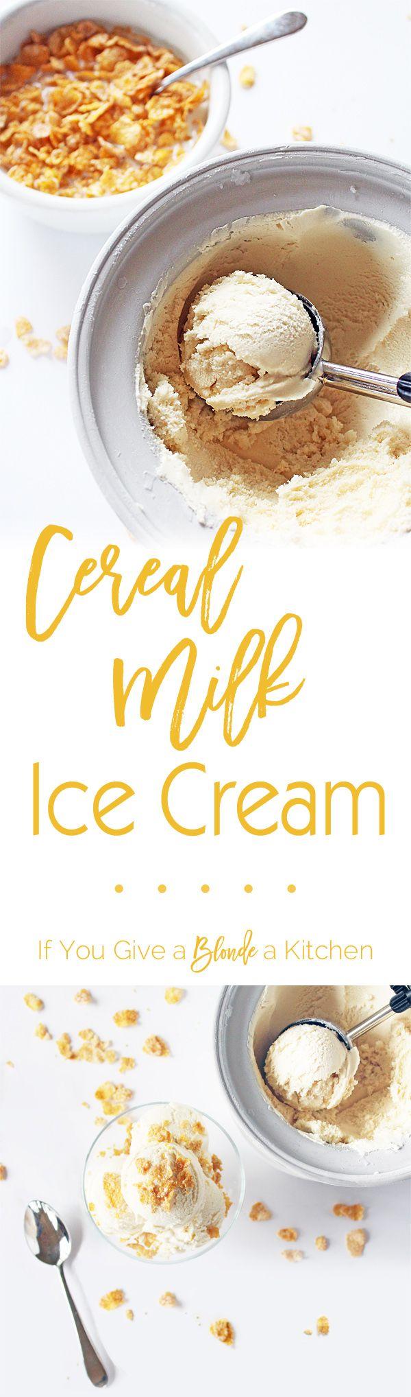 Cereal milk ice cream recipe cereal milk momofuku milk bar and cereal milk ice cream ccuart Images