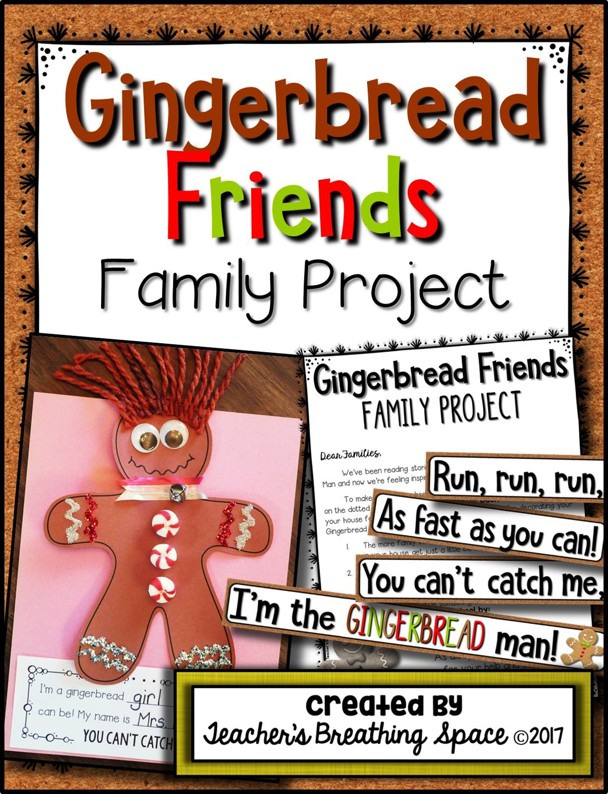 Gingerbread Family Project Fun Family Project For Christmas