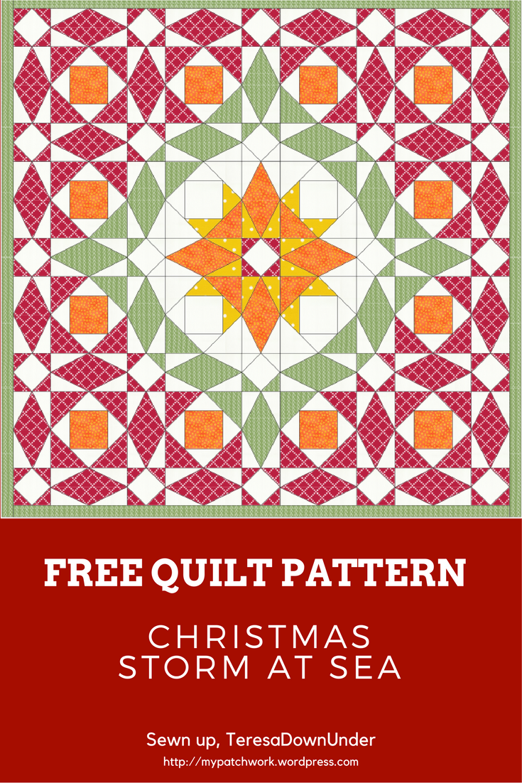 Christmas Storm at Sea quilt – PDF download | Free pattern, Storms ...