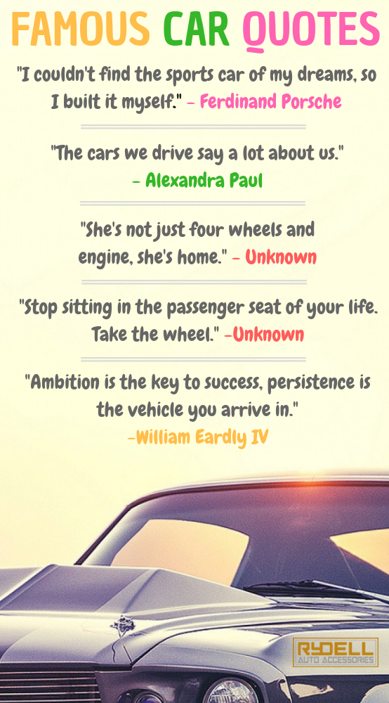 Famous car quotes | Driving quotes, New car quotes ...
