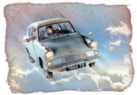 The Weasley S Flying Ford Anglia Harry Potter Flying Car Harry