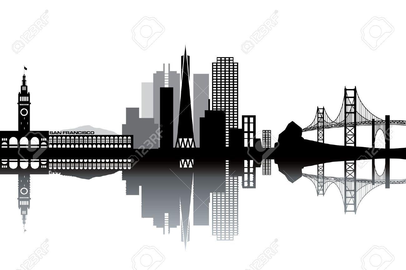 Cityscape Wall Stickers San Francisco Skyline Silhouette Google Search Art