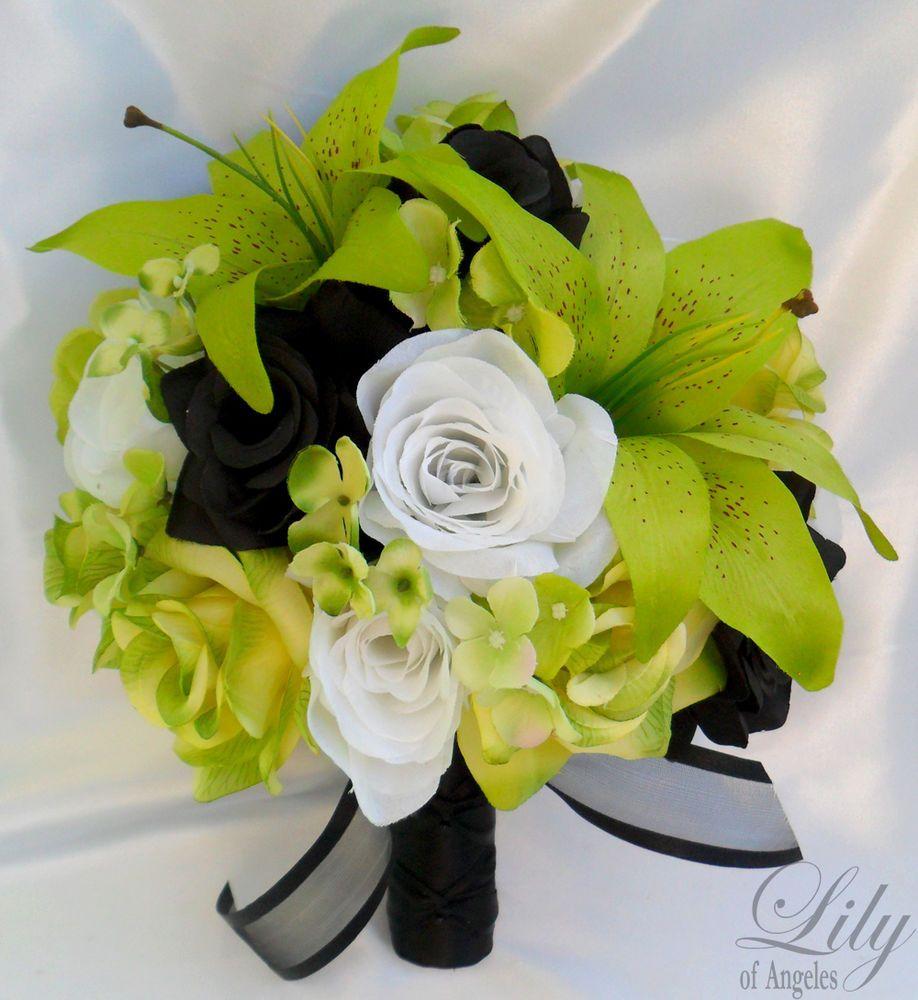 17pcs Wedding Bridal Bouquet Set Decoration Package Silk Flower ...
