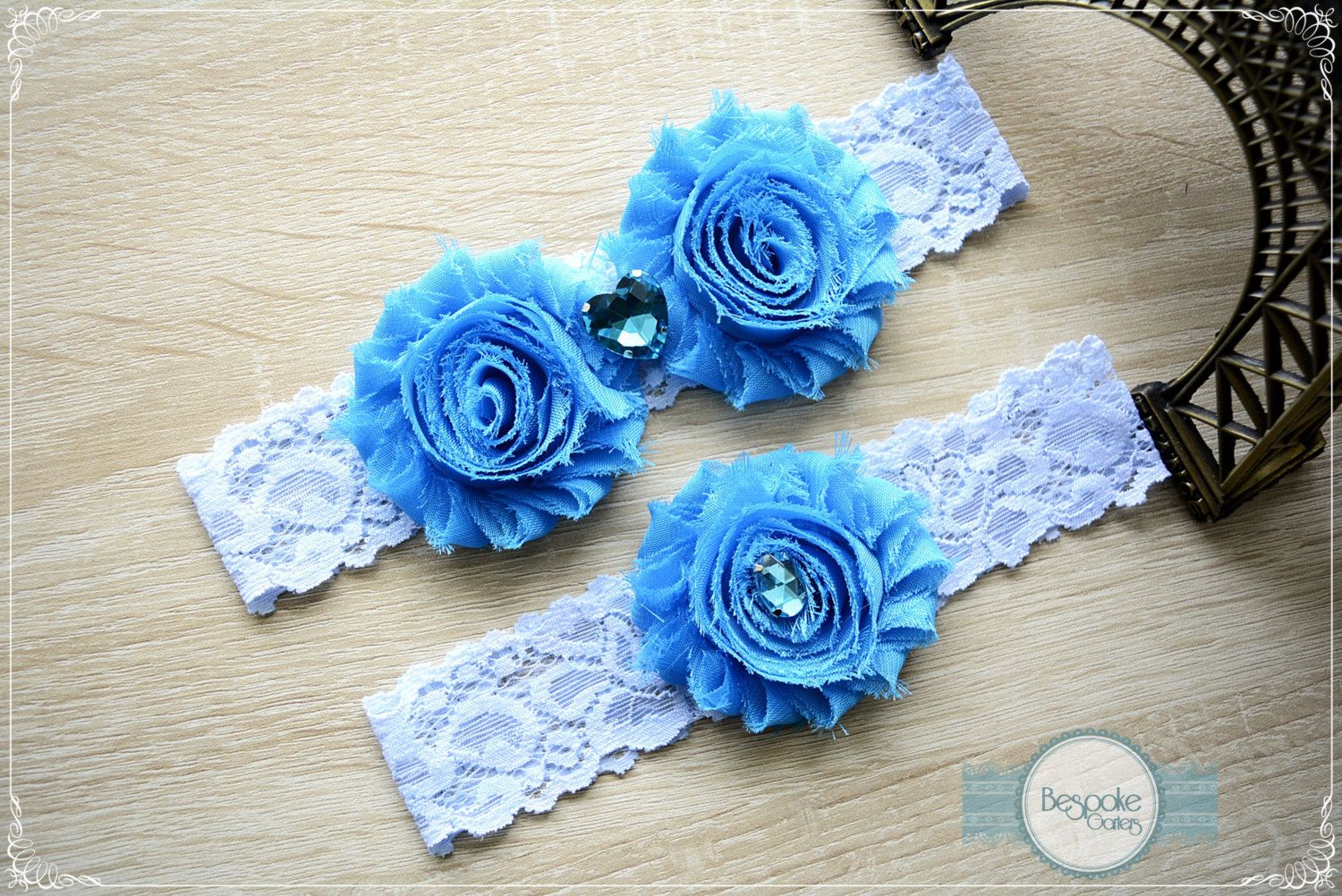 Denim Blue Wedding, Wedding Garter, Blue Lingerie, Garter Set Blue, Garter Blue, Blue Wedding, Toss Garter Blue, Sexy Blue Lingerie, Garters by BespokeGarters on Etsy