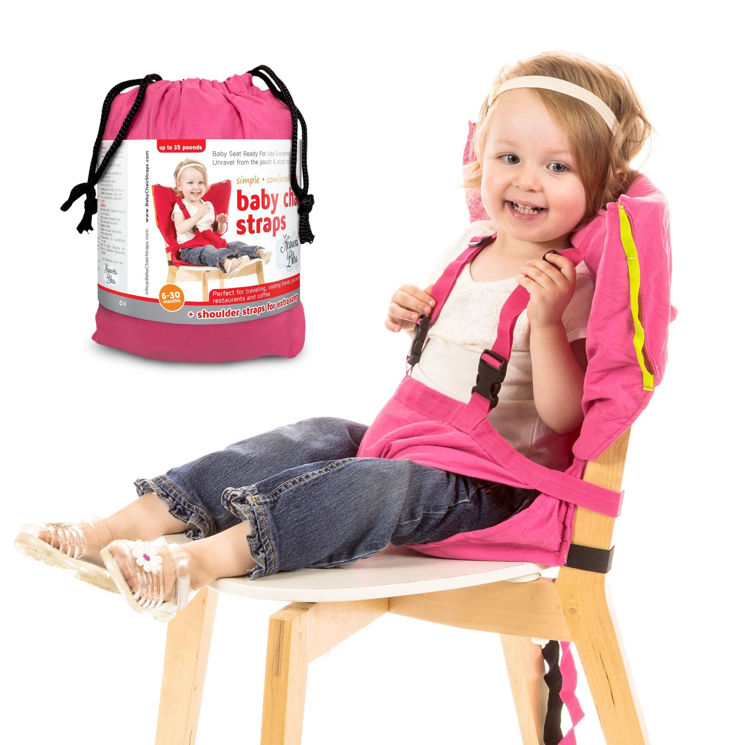 Heaven s Bliss Baby Portable High Chair Booster Harness Pink