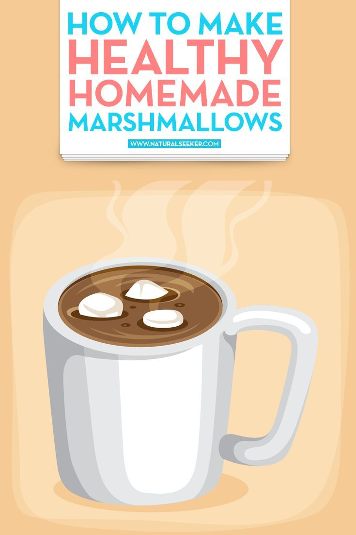 Did you know that a store-bought marshmallow is loaded with 4 grams of sugar? How many do you eat – I eat the whole bag. Oh dear.  This healthy marshmallow recipe is yummy – and easy to make. #healthymarshmallows