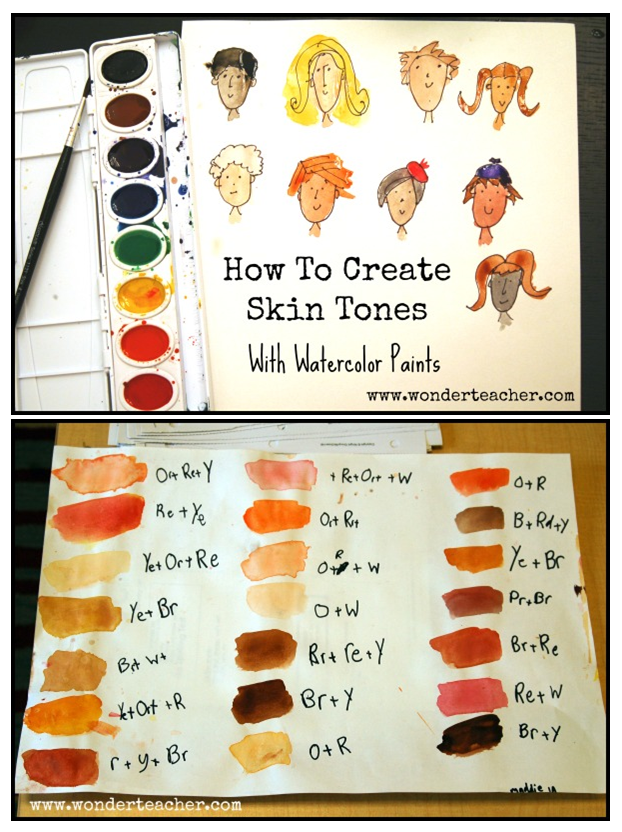 How To Create Skin Tones With Watercolor Paints Watercolor Skin Tones Watercolor Lessons Watercolour Tutorials