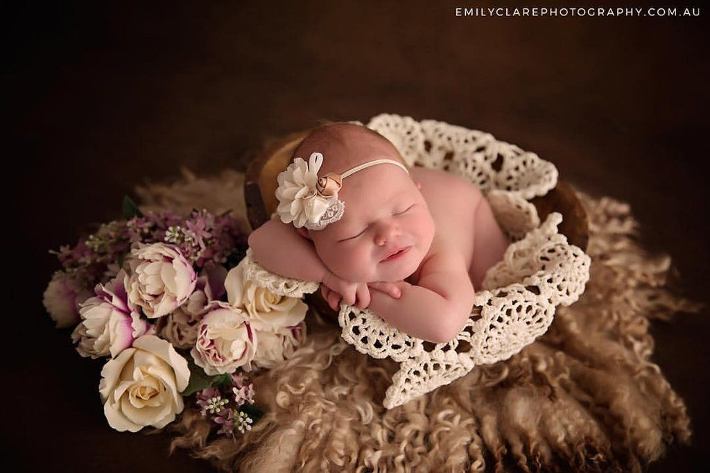 Photography props newborn wraps layers crochet doily blanket newborn