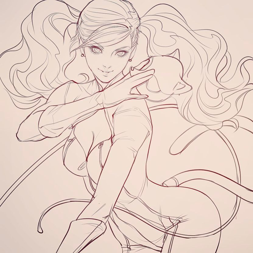 Anime And Game Sketch Artwork By Artgerm Art Post Anime Lineart Sketches Artwork