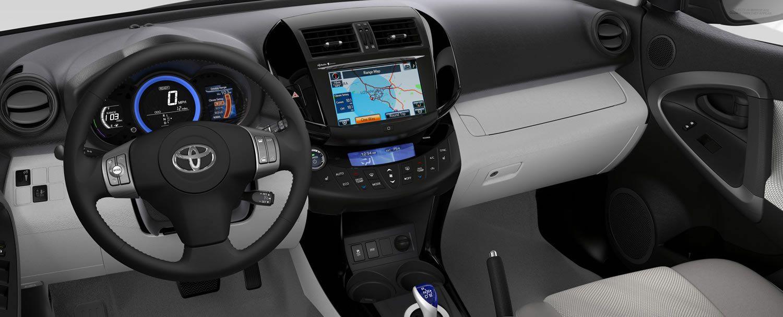 Toyota RAV4 EV Interior Toyota, Ford bronco, Toyota cars
