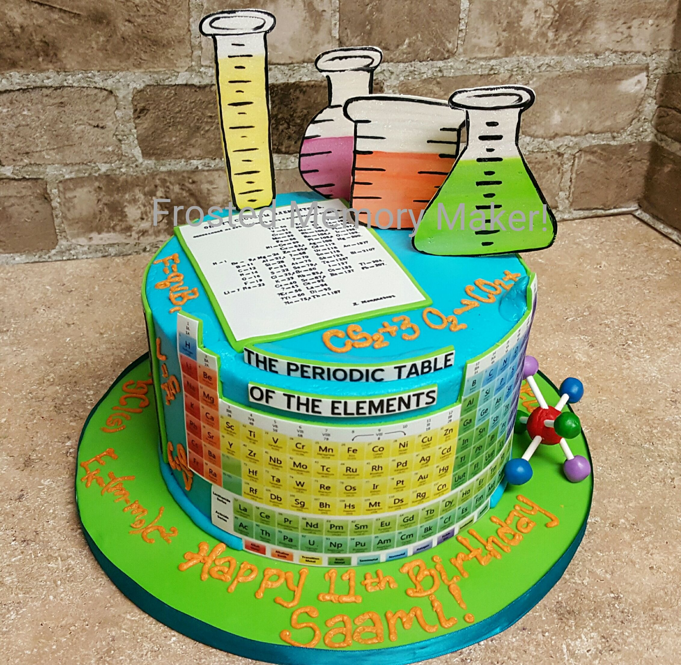 Science Birthday Cake With Periodic
