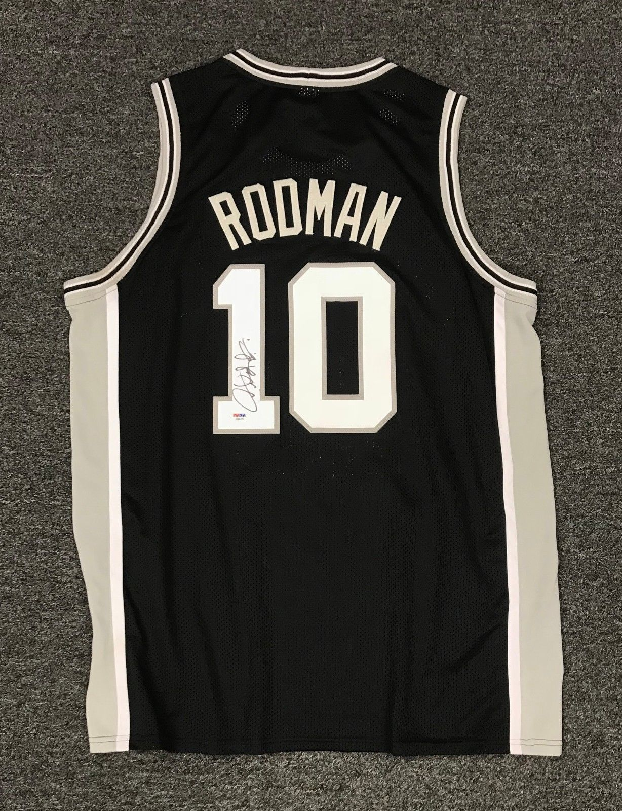 Dennis Rodman  10 Signed Spurs Jersey Autographed AUTO Sz XL PSA DNA COA HOF   Basketball 02d8ebfd8