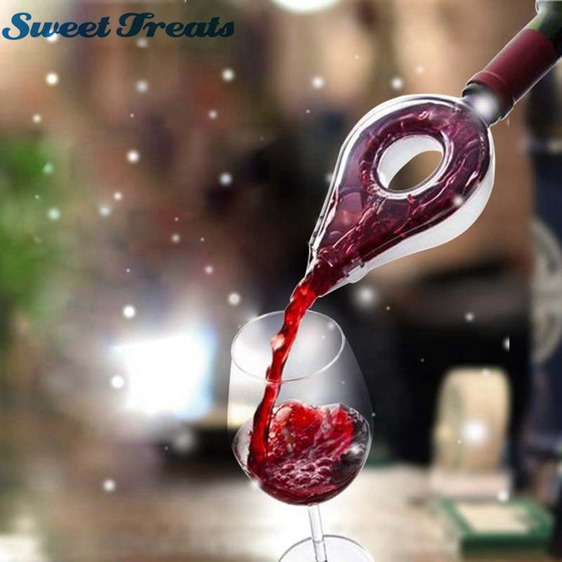 Sweettreats Wine Decanter Magic Decanter Essential Wine Quick Aerator Pour Spout Decanter Mini Travel Wine Filter Wine Aerators Decanter Wine Bottle Holders