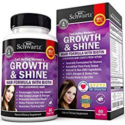 Hair Growth Vitamins With Biotin Exclusive Product For Women Longer Stronger Silky And Soft Visible Results In 1 Month