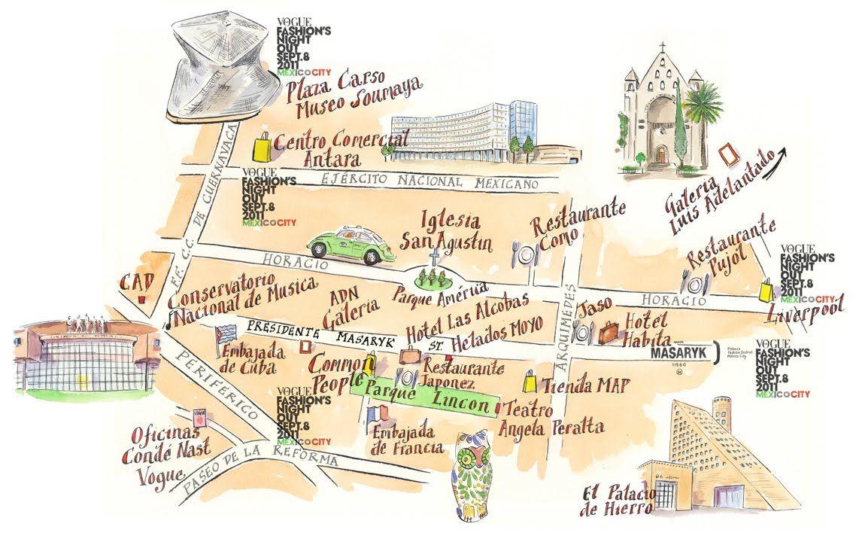 Mexico City map | Mexico city map, Map, Mexico city