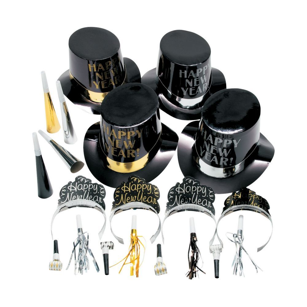 New Year's Eve Elegant Celebration Countdown Party Kit for