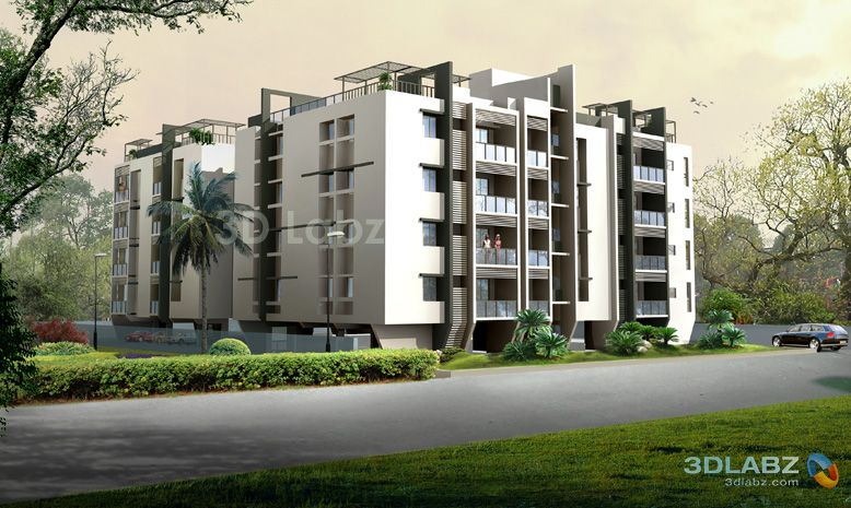 3d Apartment Design Exterior 3d rendering apartment chennai, india - 3d exterior perspective