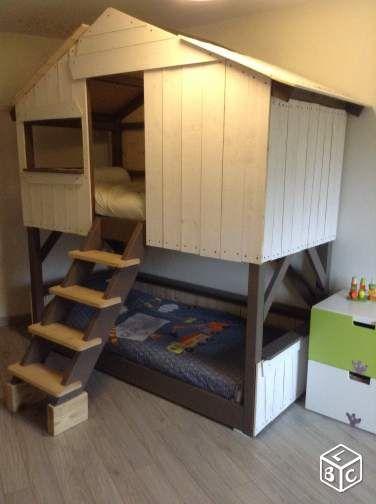 lit cabane enfant 90x190 ameublement