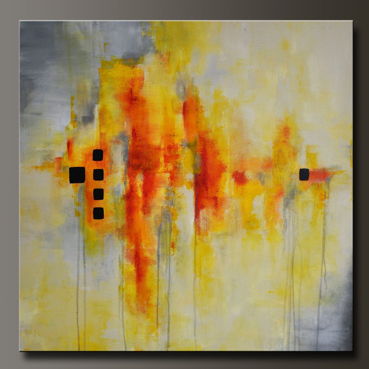 Resolution x abstract acrylic painting huge