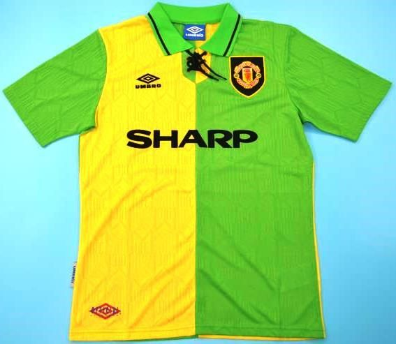 Signature was obtained personally by myself at a hotel he was staying at in. Retro Manchester United soccer jersey 92-93   Maillot ...