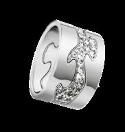 FUSION ring - 18 kt. hvidguld med brillanter, 3 dele Georg Jensen