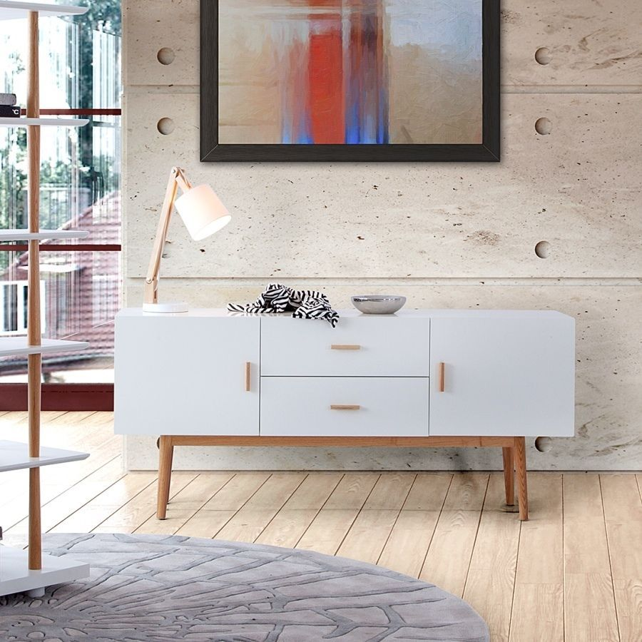 sideboard malm kommode wei retro schrank dekor eiche massiv holz au2116c wow esszimmer. Black Bedroom Furniture Sets. Home Design Ideas