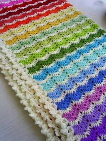 Patrón #1315: Manta a Crochet | Crochet | Pinterest | Manta, Dos ...