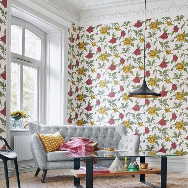 Elegante colecci n de papel pintado de dise os florales - Papel pintado moderno ...