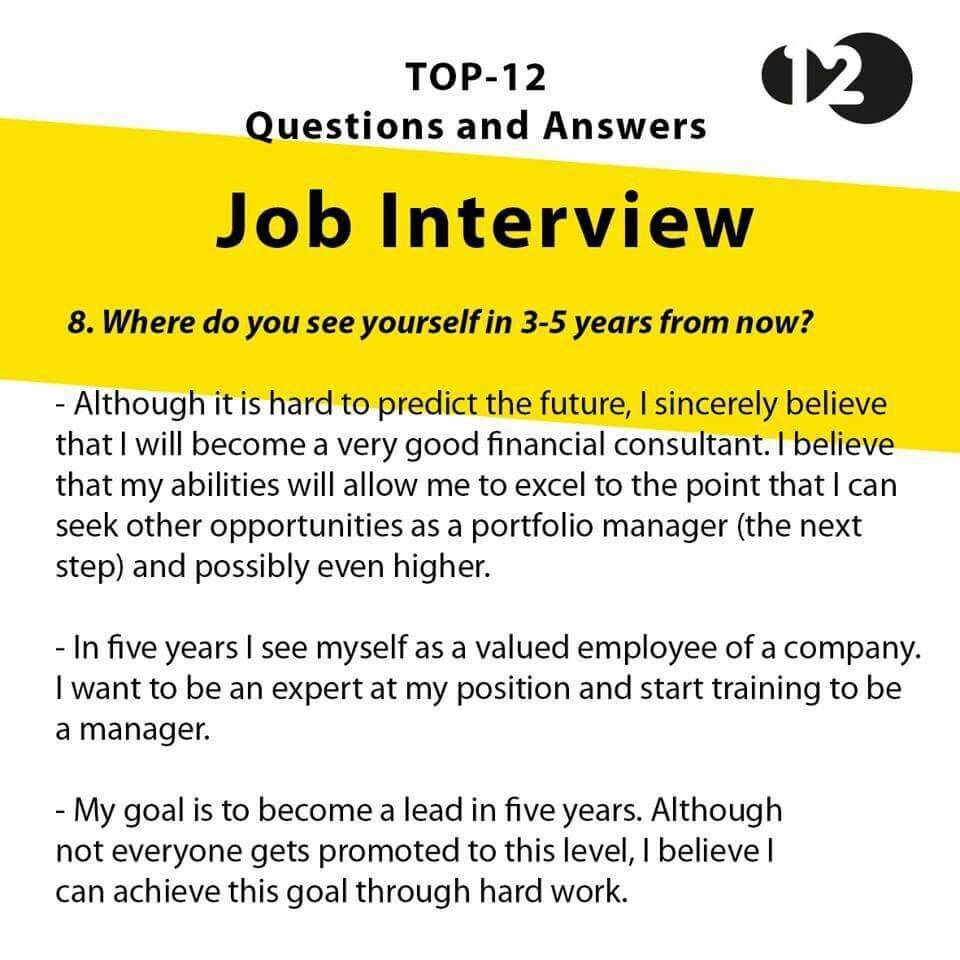 interview questions for lead position