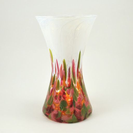 Glass Tulip Mosaic Hourglass Vase Hourglass Glass And Products