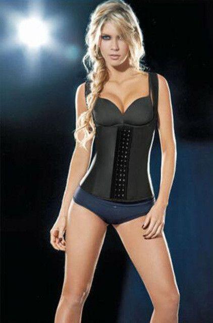 38b74cdb96159 plus size neoprene sweating Latex Vest high elastic Waist Trainer Blet Vest  Hot Body Shapers Waist Cincher And Waist Corsets