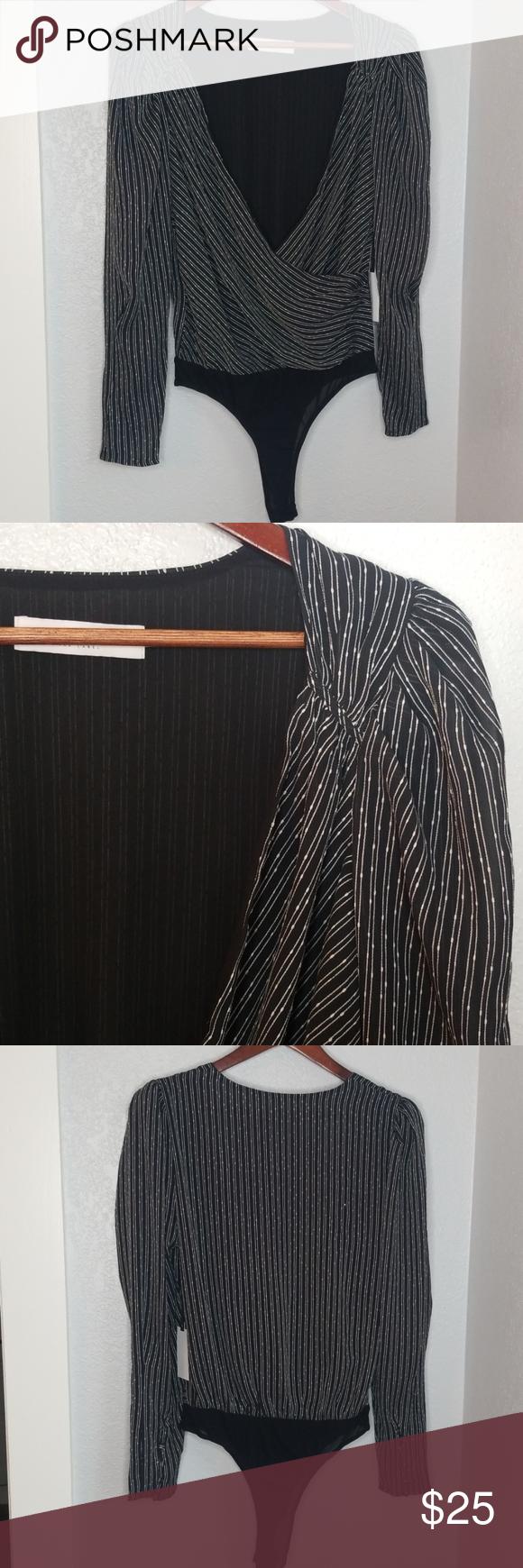 ASTR the Label Jolene Dress (Black/White Stripe) Womens
