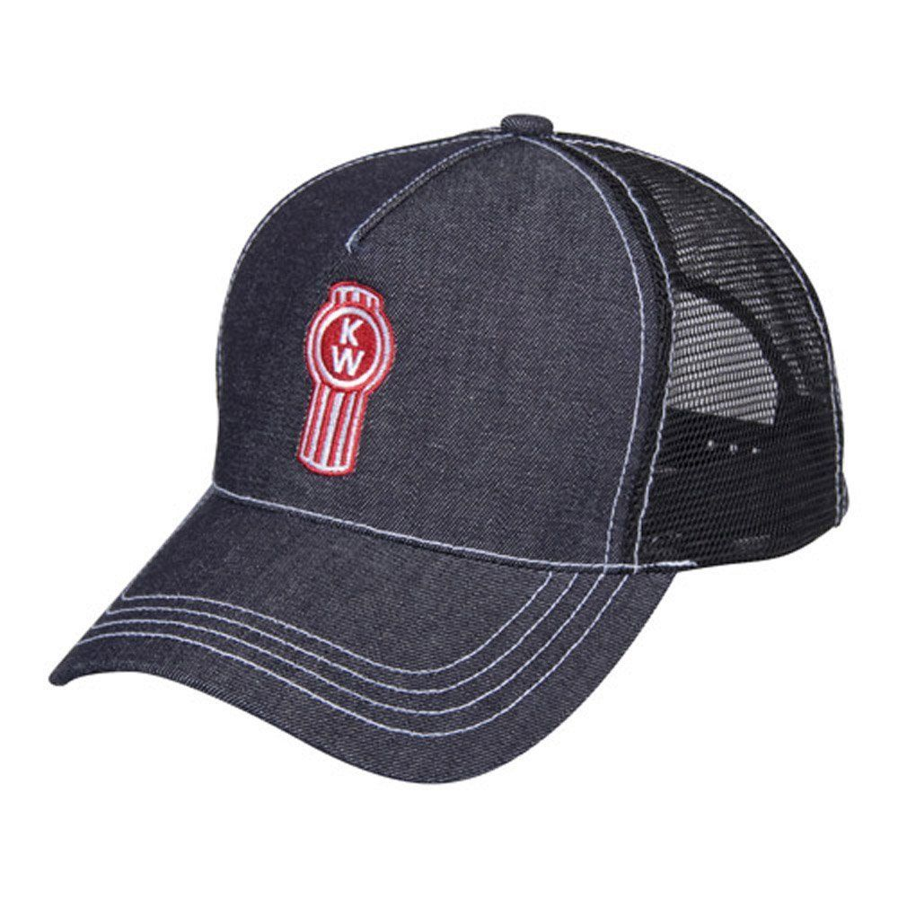 Kenworth Denim Mesh Snapback Hat Kenworth trucks, Semi
