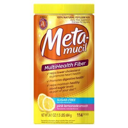 Metamucil Psyllium Fiber Supplement Pink Lemonade Sugar Free Smooth