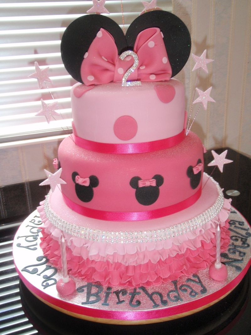 3 Tier Mini Mouse Cake cakes Pinterest Mini mouse cake Mouse