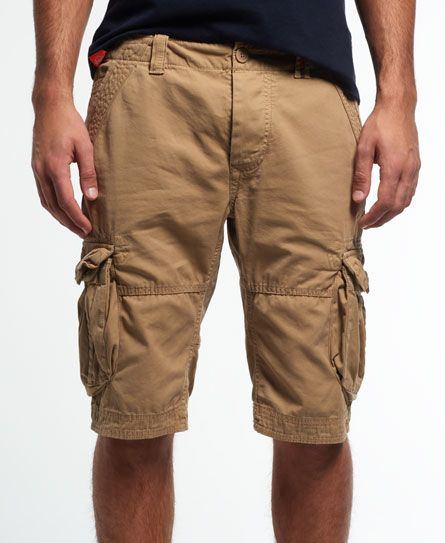CORE CARGO LITE Legion Beige Military Cargo Shorts NEW SUPERDRY Men/'s