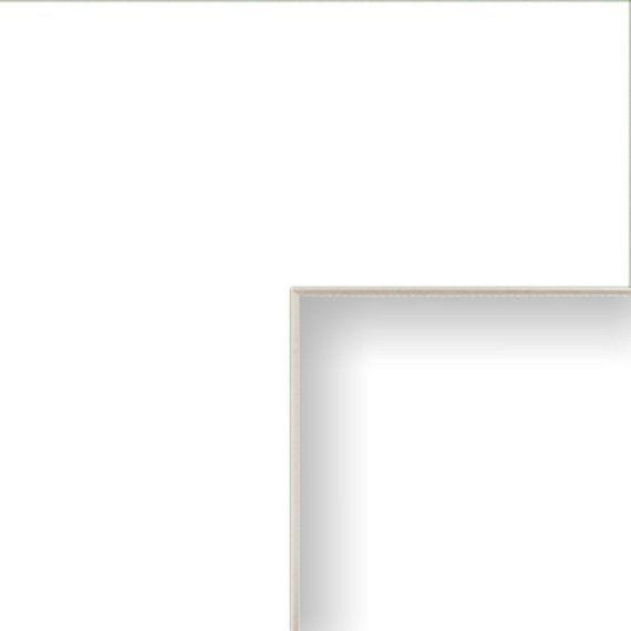 12x12 Inch Mat 10x10 Inch Single Opening Crisp White With Cream