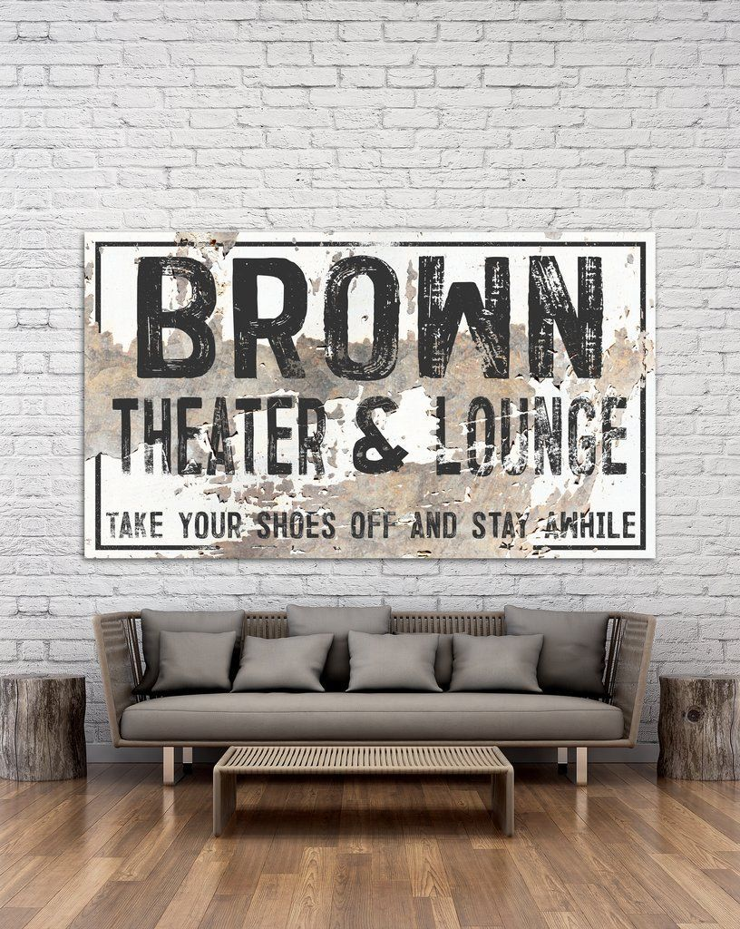 Theater Decor Wall Art Canvas