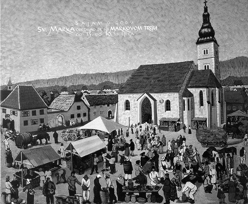 Prirucnik Purgerskog Govora With Images Zagreb Painting Gornji Grad
