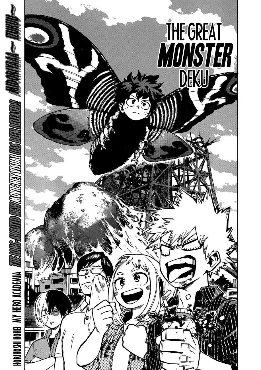 The Great Monster Deku Bnha Ch 222 With Images My Hero