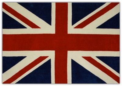 Tapis Union Jack drapeau anglais rouge et bleu | Déco | Pinterest