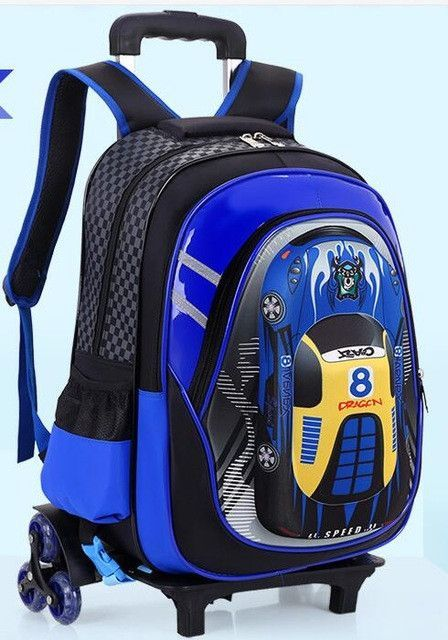 e57230f453 Children trolley school backpack kids backpack wheels Travel Bag Wheeled  backpack for boy Rolling Bag school Travel luggage bag
