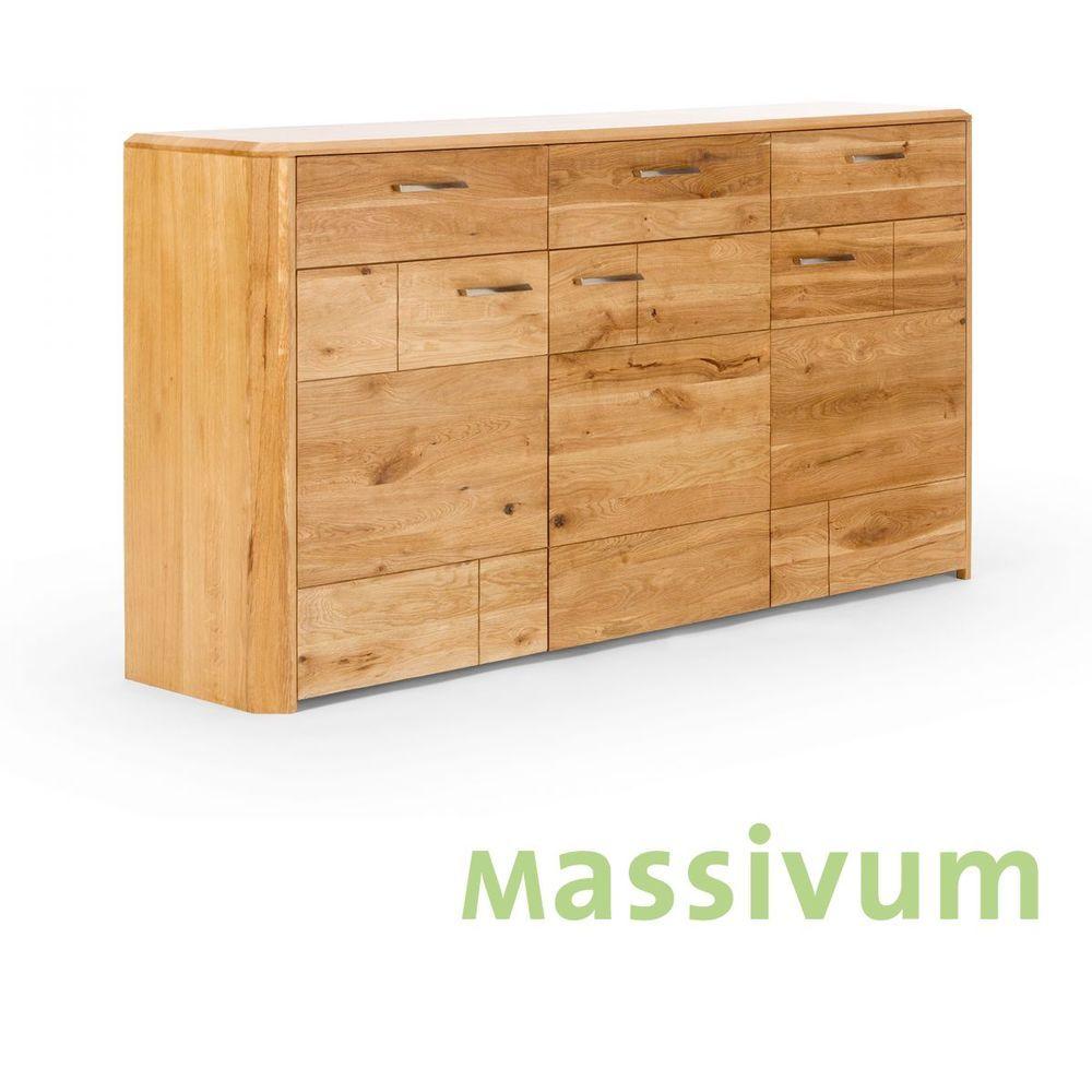 Wohnwand Anbauwand Eiche Massiv Gelt Mbel Holz Wohnzimmer Schrnke MARERRA NEU