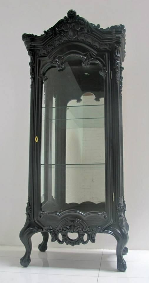 gothic curio cabinet or the vanishing cabinet