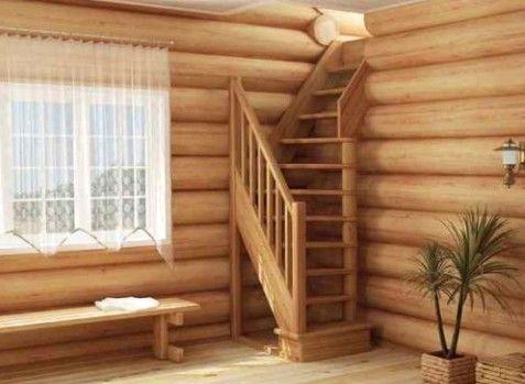 Сделать лестницу на второй этаж дачного домика своими руками 103