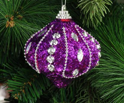 2016 luxury christmas ornaments wholesale christmas tree bundle accessories luxury purple quality foam ball supplies hanging new year santa claus cristmas - Luxury Christmas Decorations Wholesale