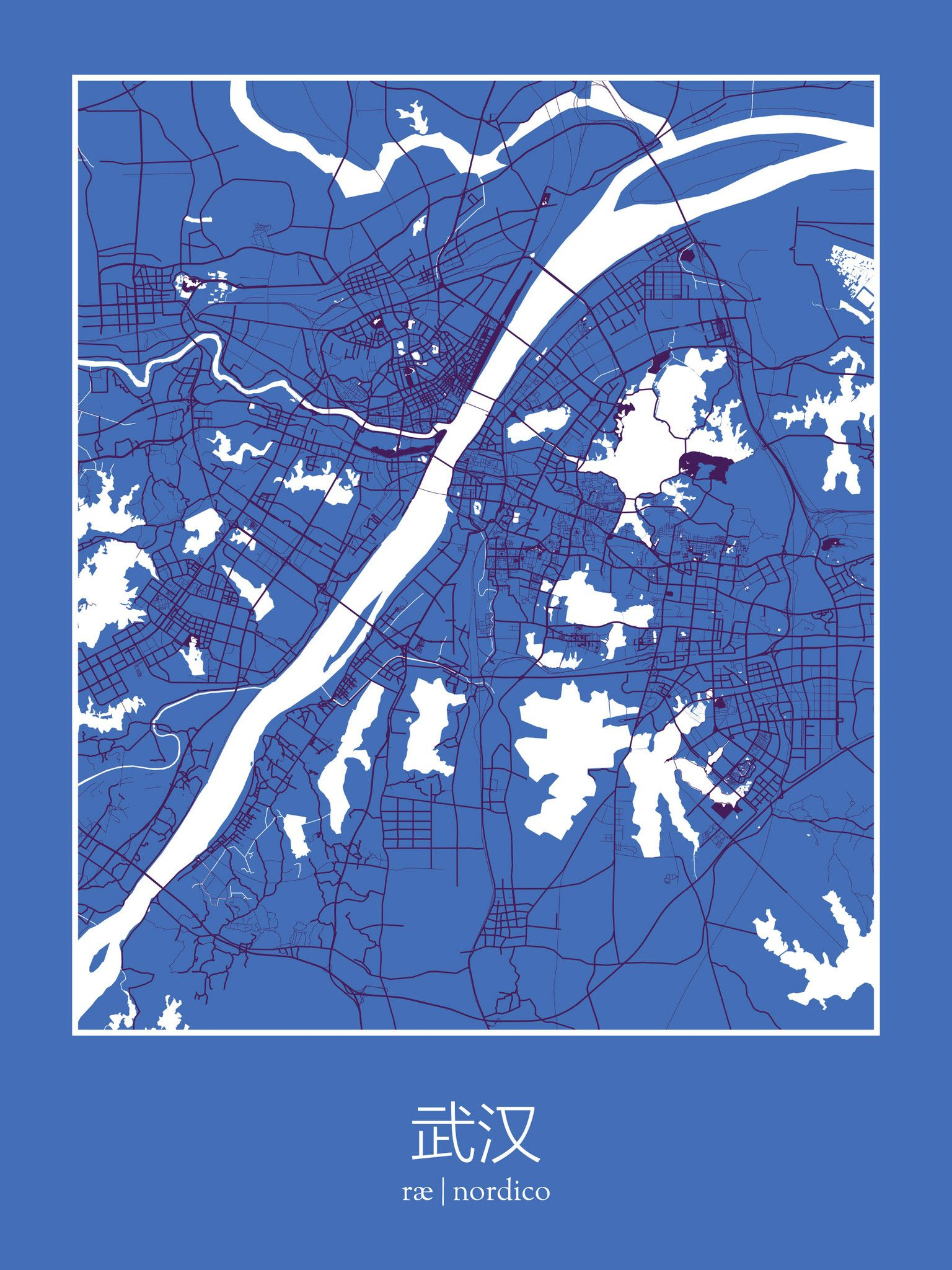 Wuhan china map print maps pinterest wuhan wuhan china map print gumiabroncs Image collections